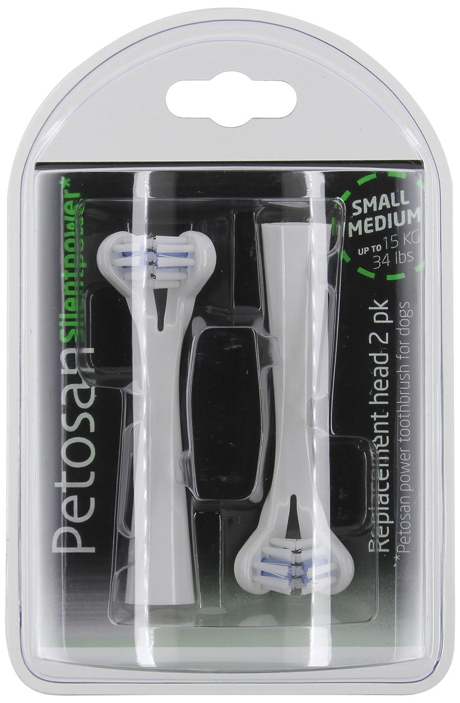 Petosan Brosse à dents à ultrasons Tête de rechange, Lot de 2 Petosan* POS12086