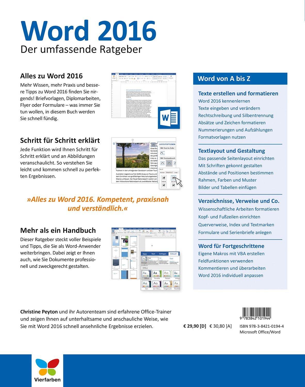 Word 2016 Der Umfassende Ratgeber Für Einsteiger Und Umsteiger