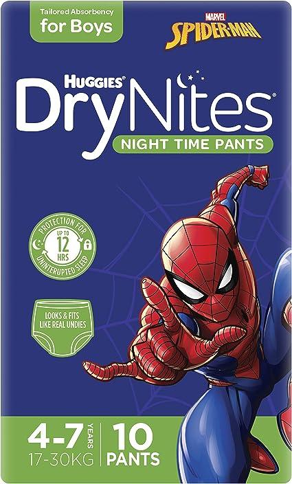 17 To 30 Kg Boy Size 4-7 Years - Pack Of 10 Pyjama Pants Huggies Drynites Pyjama Pants