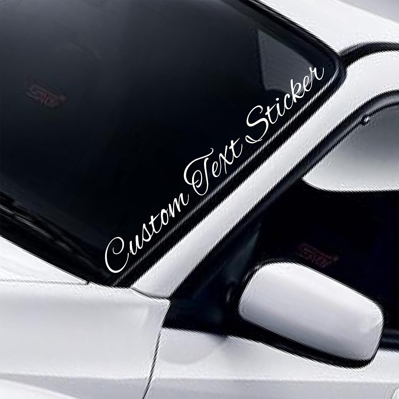 Custom text car sticker personalised name lettering windscreen bodywork stickers vinyl decal 55cm amazon co uk handmade