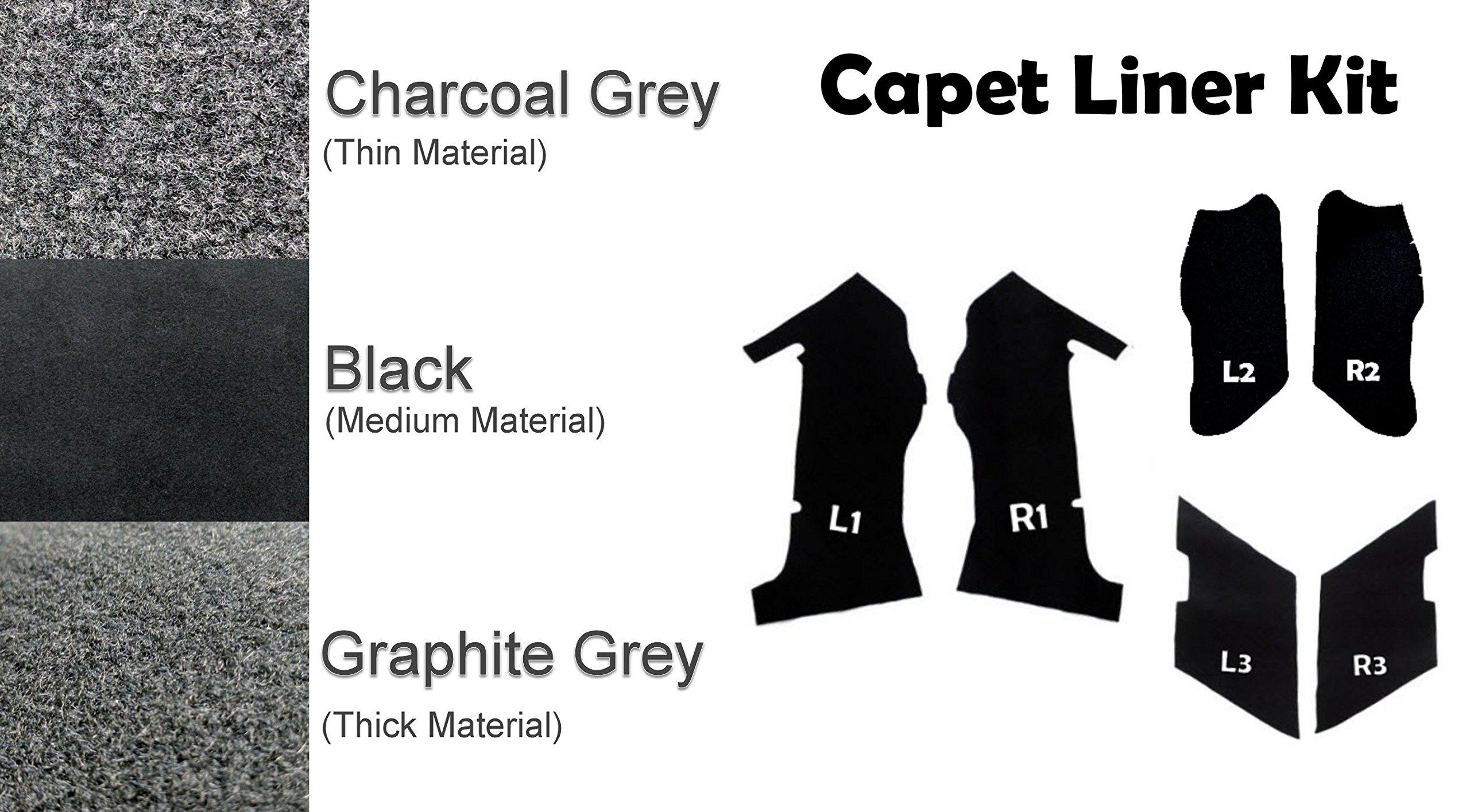 Extended Saddlebag Carpet Liner Kit for 2014-2018 Harley-Davidson 4'' or 4.5'' Stretched ABS One-Touch Saddlebags (Black)