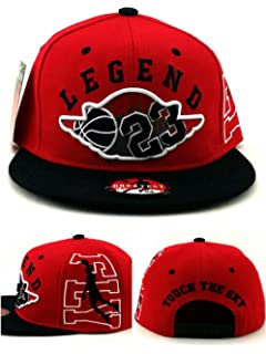 355058cdef66dc Greatest 23 Chicago Jordan Bulls Colors Red Black Legend Wing Era Snapback  Hat Cap