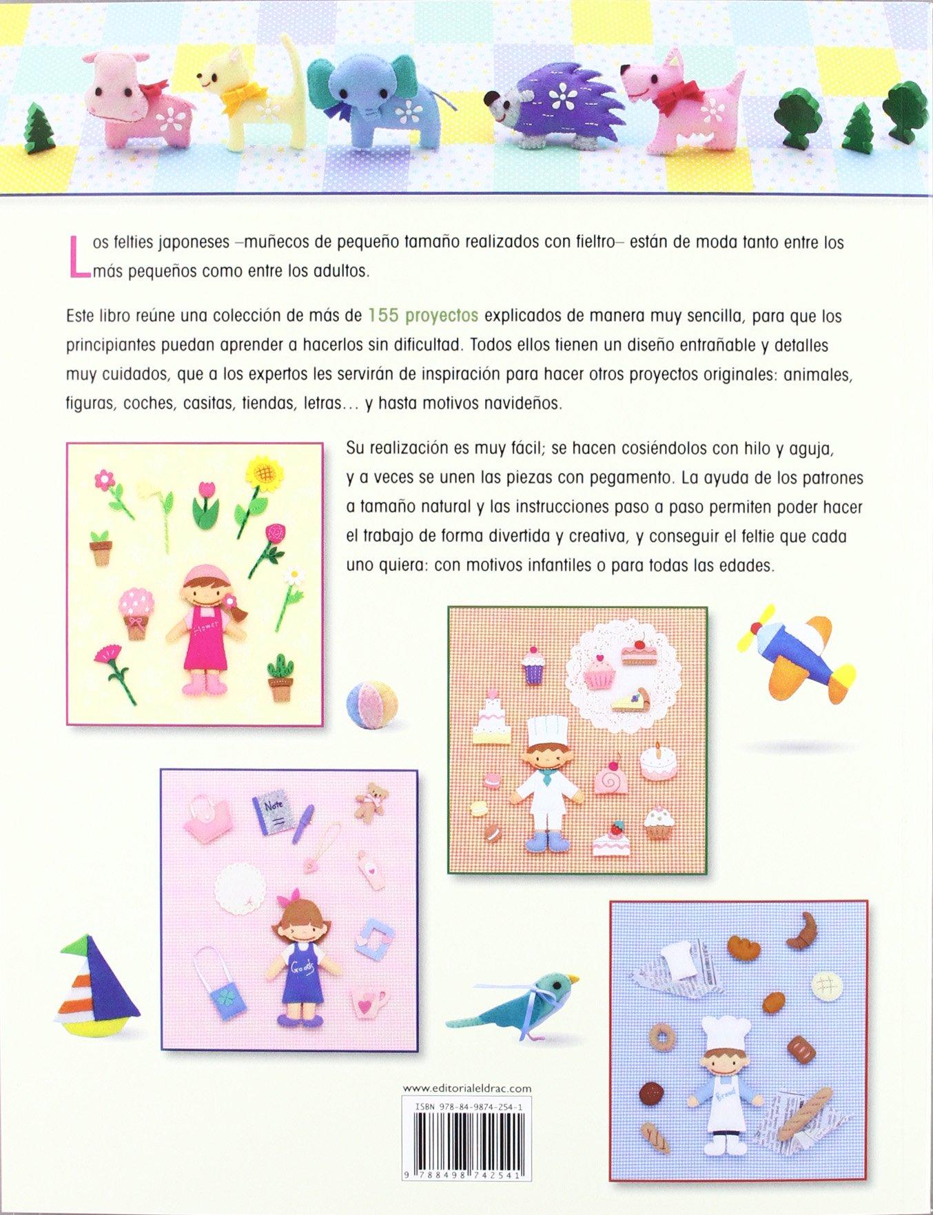 FELTIES JAPONESES: MUÑECOS, ANIMALES, FLORES, LETRAS...DE FIELTRO Artesania Y Manualidades: Amazon.es: Aa.Vv.: Libros
