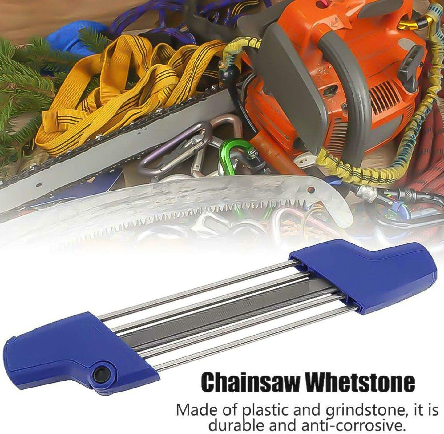 DDST 4.0mm 2 in1 Easy Chainsaw Chain File Sharpener For STIHL 56057504303 Blue None 1