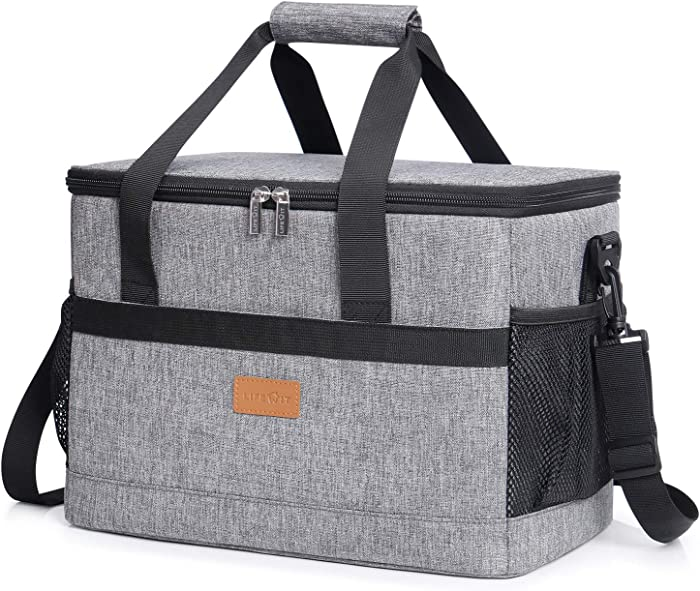Lifewit Cooler Bag 20/30/40L,Collapsible and Insulated Large Lunch Bag Leakproof Soft Cooler Portable Tote for Camping/BBQ/Family Outdoor Activities, Grey