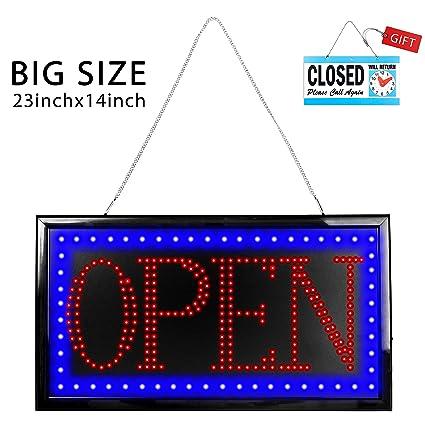 Cartel abierto LED ultrabrillante | Cartel publicitario más ...