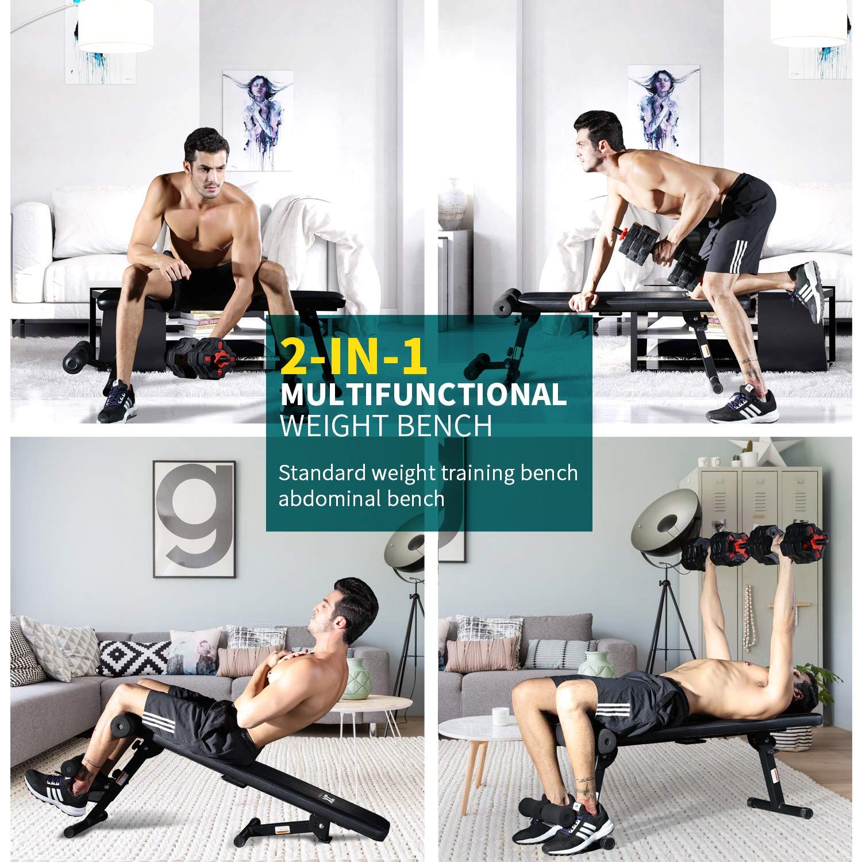 JX FITNESS Banco de Musculación Ajustable Multifuncional de Casa Banco de Entrenamiento de Fitness: Amazon.es: Deportes y aire libre