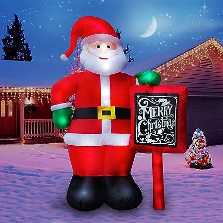 Amazon.com: holidayana Navidad inflable gigante 10 ft. Feliz ...