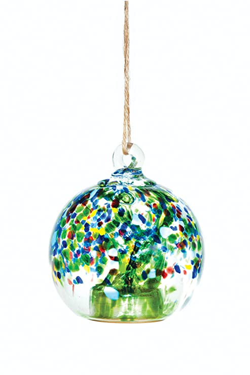 Allsop Home And Garden Solar Drop , 4u0026quot; Handblown Glass With Solar  Panel And LED
