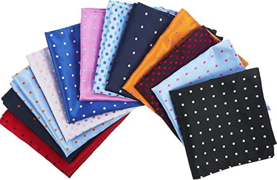 12x Mens Vintage Pocket Square Hankerchief Hanky Cotton Party Handkerchiefs