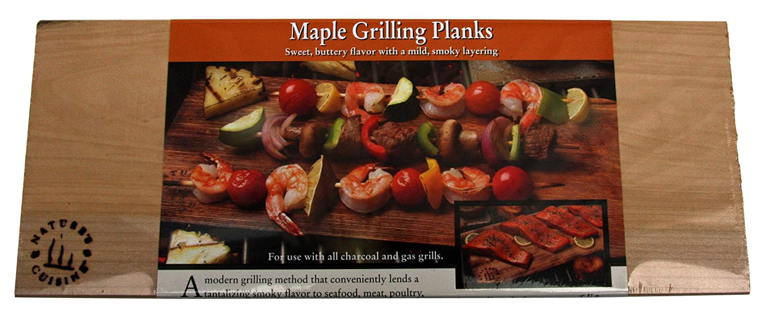 Nature's Cuisine NC007-3 14-Inch x 5.5-Inch Maple Grilling Planks, 3 per pack (Wood) 3 per pack (Wood) Natures Cuisine