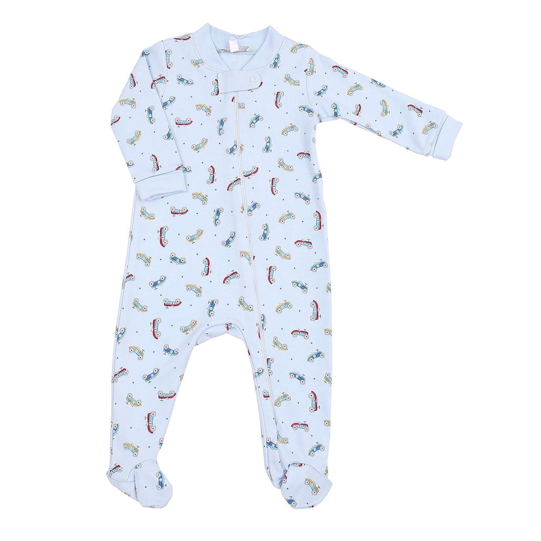 Printed Zipped Footie Blue Set Go Magnolia Baby Baby Boy Ready