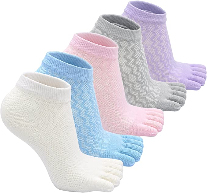 Breathable Kawaii Mesh For Girl Kids Children Boy Toes Socks Five Fingers Bear
