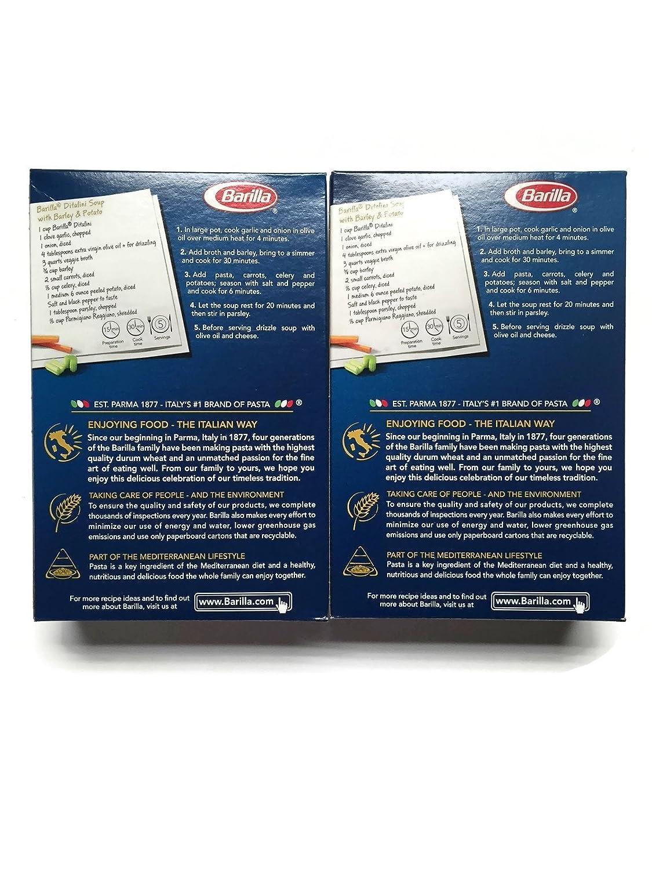 Amazon Barilla Ditalini Pasta 16 Oz 1 Lb Packages Set Of