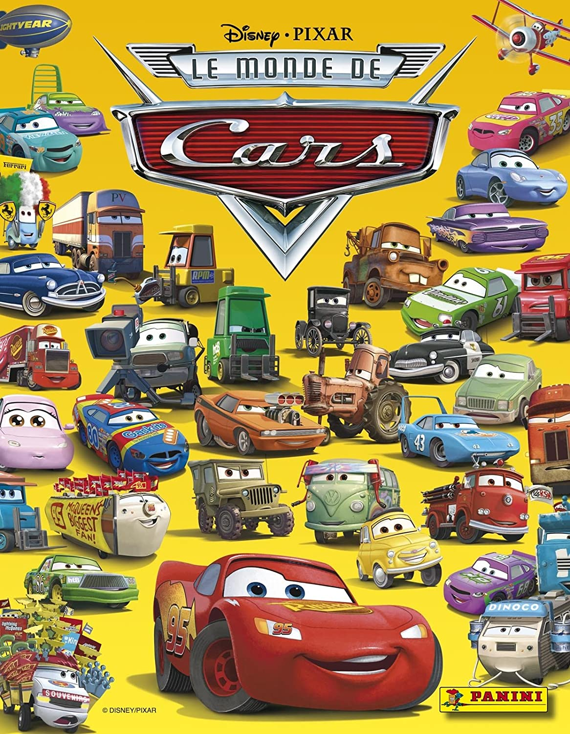 amazoncom disney pixar the world of cars sticker book with wall poster stickers are sold separately and are also made by panini toys games