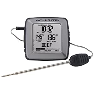 AcuRite 01184M Digital Meat Thermometer with Time Left to Cook