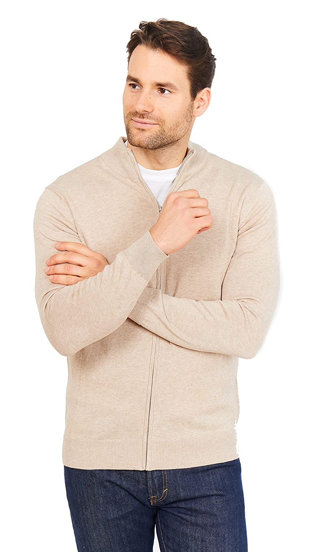 Maglione con Cerniera in Cotone 100/% Stile Casual Chic per Uomo Jack Stuart