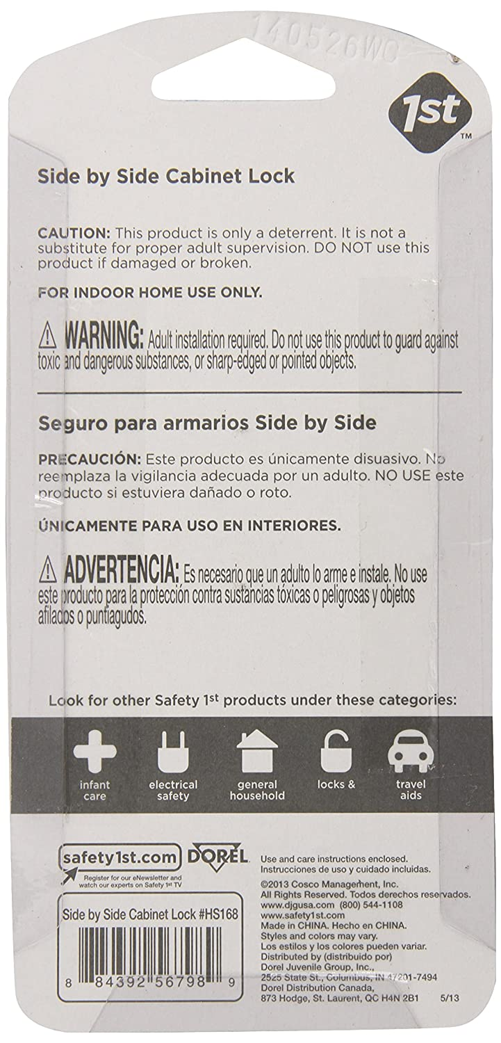 Safety 1st Cabinet Lock Amazoncom Safety 1st Side By Side Cabinet Lock Decor 2 Count