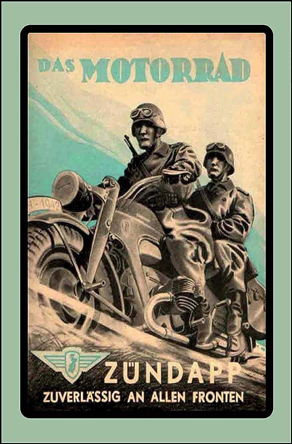Cartel de chapa Zündapp zuverlässig Deutsches Reich Motorrad ...