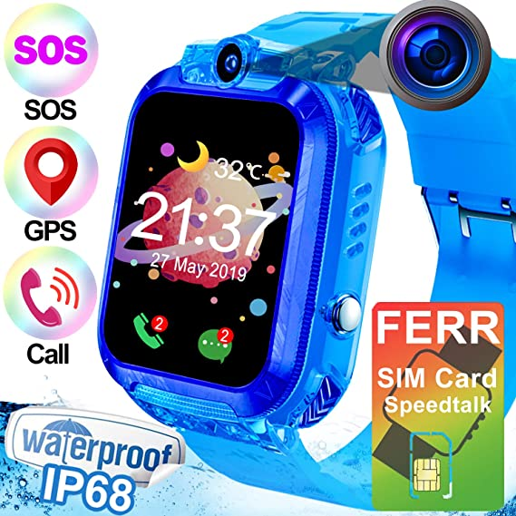 Amazon.com: Kids Smart Watch - [Free SIM Card] Waterproof ...