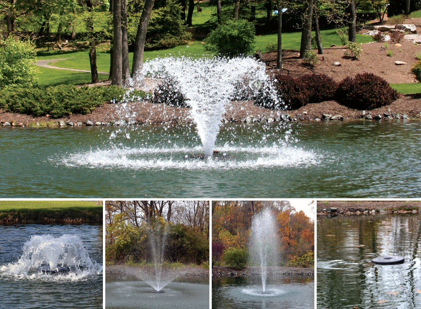 Otterbine 1/2HP Fractional Series: 5-in-1 Pond Aerator/Fountain (230V) with 150ft Cable [QDC]
