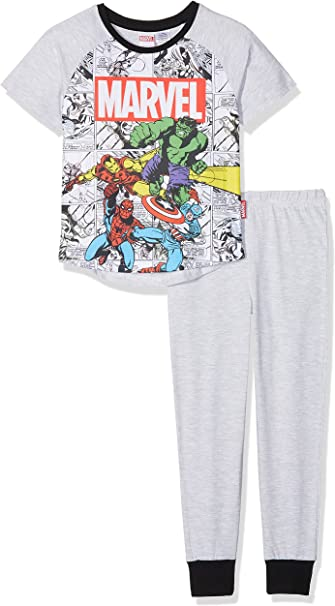 Marvel Manches Longues Gar/çon Ensemble de Pyjama