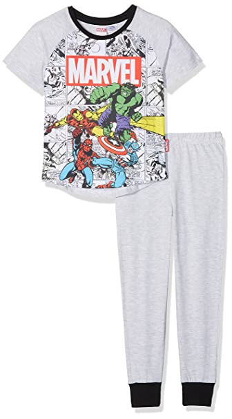 Marvel Hulk, Iron Man, Captain America and Spiderman, Conjuntos de Pijama para Niños: Amazon.es: Ropa y accesorios
