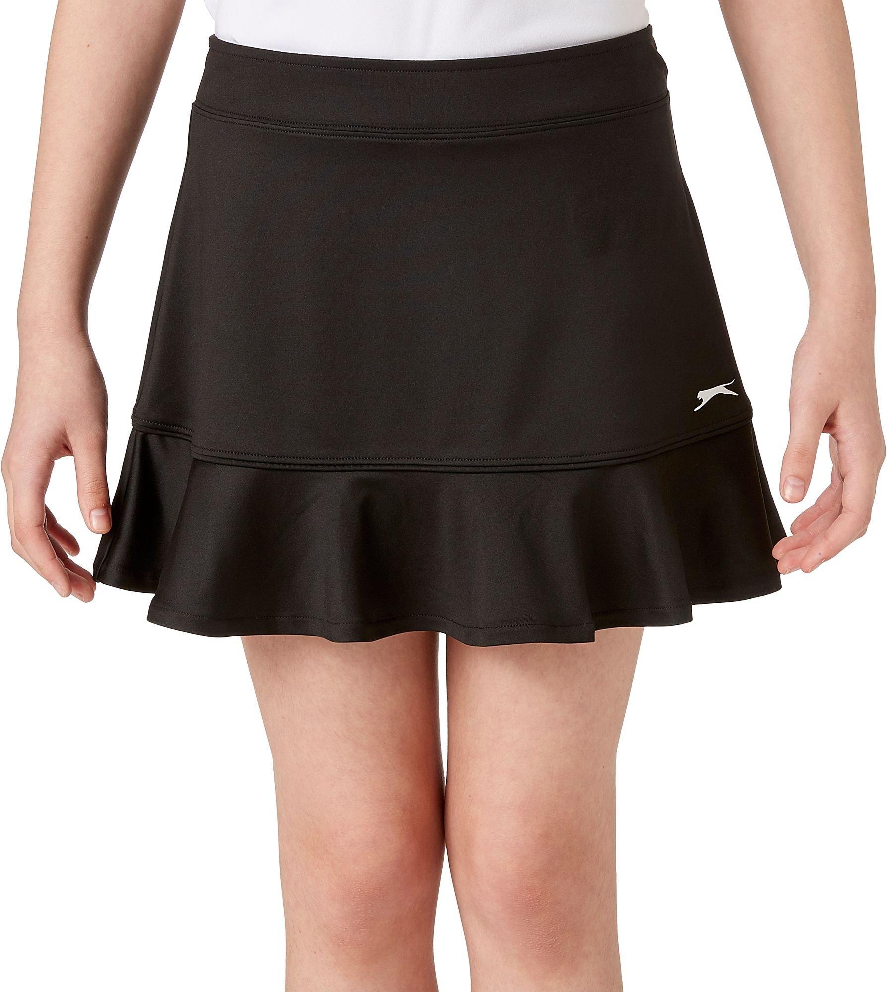 Slazenger Girl's Ruffle Knit Golf Skort (Black, Medium)