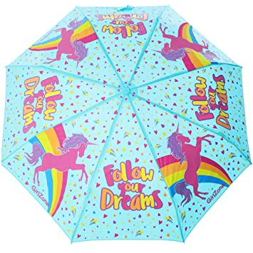 Amazon.com: GirlZone: paraguas plegable de unicornio para ...