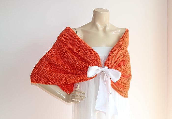 Amazon Orange Bridal Capelet Orange Wedding Wrap Shrug Bolero