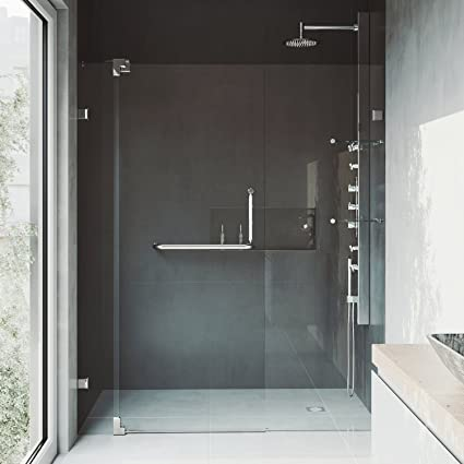Vigo Vg6042bncl60 60 Inch Frameless Shower Door With 38 Inch Clear