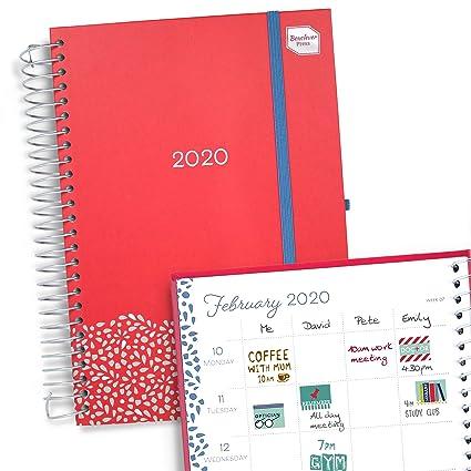 Boxclever Press Family Life Book. Agenda 2020 con columnas para 7 personas. Planificador semanal, comienza ahora y se extiende hasta diciembre 2020. ...
