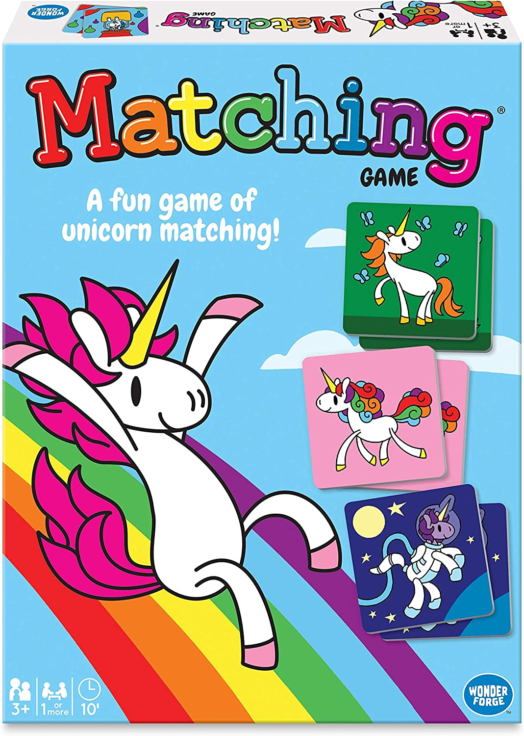A Fun /& Fast Magical Memory Game Wonder Forge Unicorn Memory Matching Board Game for Boys /& Girls Age 3 to 5