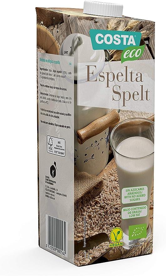 Costa Eco Bebida Ecológica Espelta 1L. - Pack de 6: Amazon.es: Alimentación y bebidas