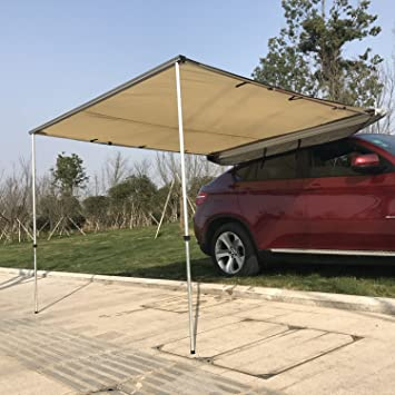 Outsunny Car Awning - Portable Folding Retractable Rooftop Sun Shade Shelter (Medium) : tent awnings for cars - memphite.com