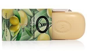 Pure Castile Soap Bars - 6 Pack - 5 oz Each - Unscented Organic Soap Bars - All Vegan Olive Oil & Cocoa Butter Soap - Great Baby Castile Soap & For Those With Sensitive Skin & Acne