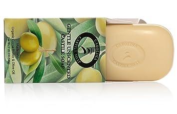 Pure Castile Soap Bars - 6 Pack - 5 oz Each - Unscented Organic Soap Bars -  All Vegan Olive