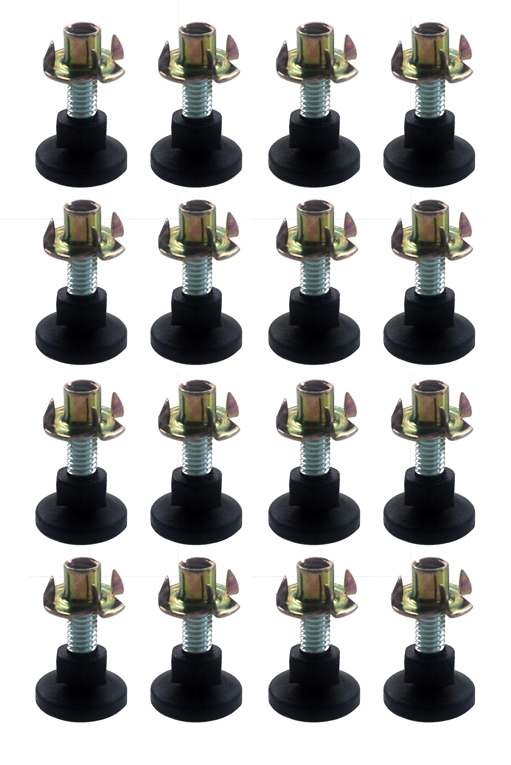 Heavy Duty Adjustable Leg Leveling Glides for Furniture 12 Pack