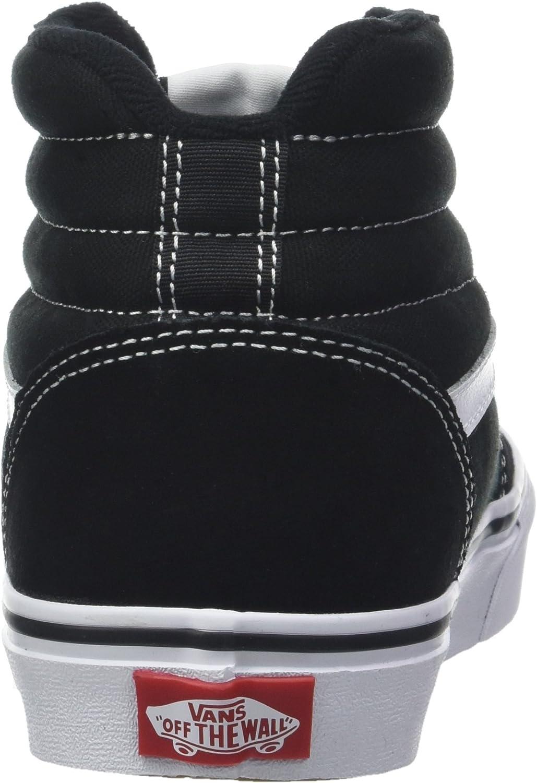 Vans Ward Hi Suede/canvas, Baskets Hautes Homme Noir Suede Canvas Black White C4r