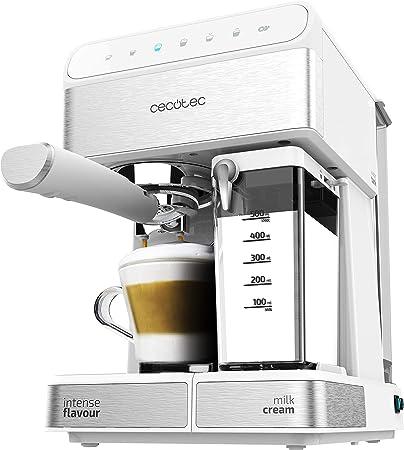 Cecotec Cafetera Semiautomatica Power Instant-ccino Touch Serie Bianca. Presión 20 Bares, Capacidad de 1,4l, 6 Funciones, Calentador por Thermoblock, Control Táctil, Tanque de leche, 1350 W: Amazon.es: Hogar