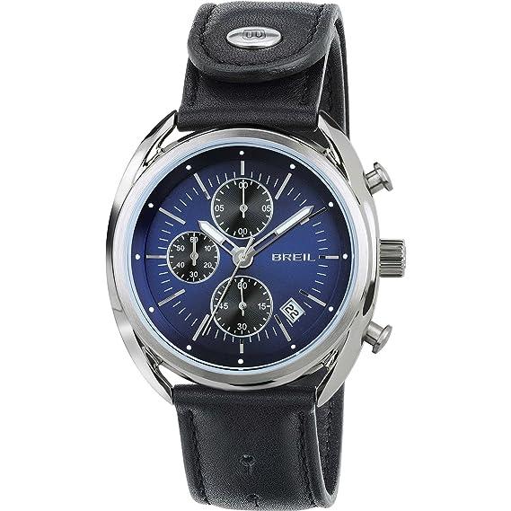 Breil Reloj Cronógrafo para Hombre de Cuarzo con Correa en Cuero TW1528: Amazon.es: Relojes