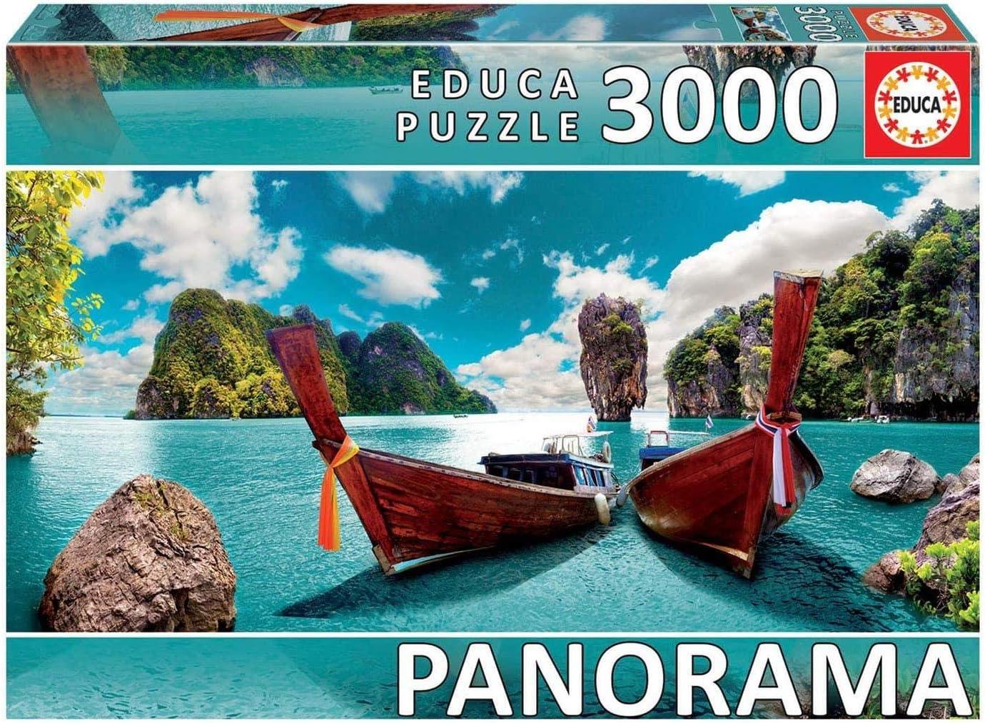Educa Borras - Serie Panorama, Puzzle 3.000 piezas Phuket, Tailandia (18581)