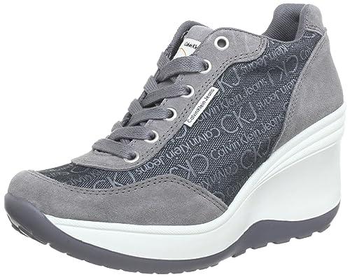 CALVIN KLEIN Jeans Sneakers Scarpe Donna Casual Sportive ZEPPA R1495DGN (37) 772c011435e