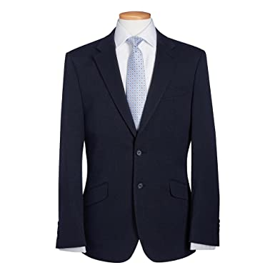 Brook Taverner Mens Phoenix Suit Jacket (40R) (Navy Pin Dot): Amazon