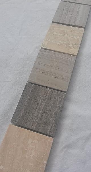 Mosaik Bordure Marmor Travertin 4 8x30 Naturstein Fliesen Grau Creme