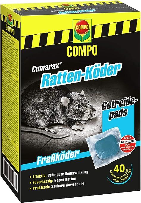 Compo Cumarax Ratten Koder Getreidepads Frasskoder Fur Koderboxen 40 Beutel 400 G Amazon De Garten
