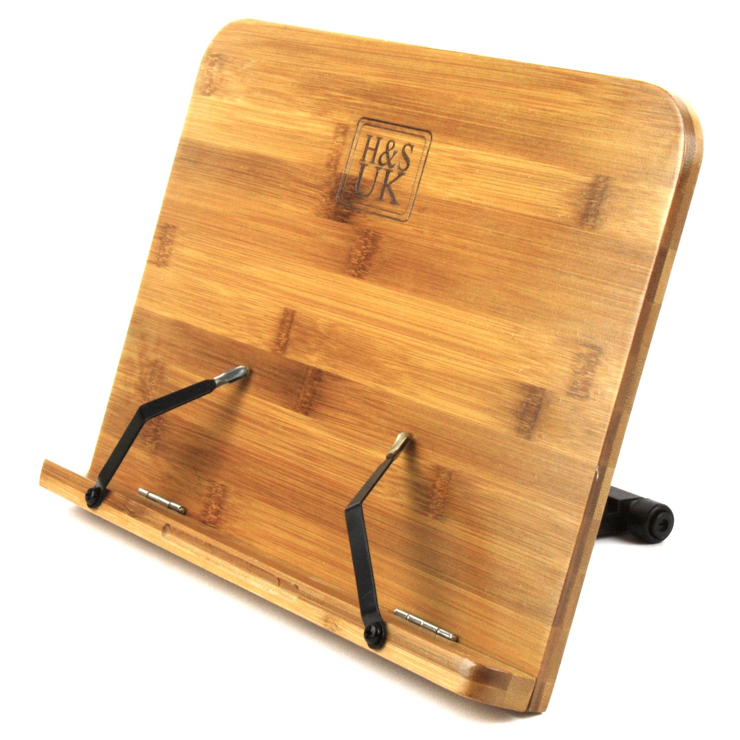 h s bamboo reading rest cookbook cook recipe kitchen book holder