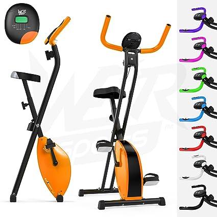 We R Sports Folding X-Bike - Bicicletas estáticas (plegable, imán, magnético), color naranja