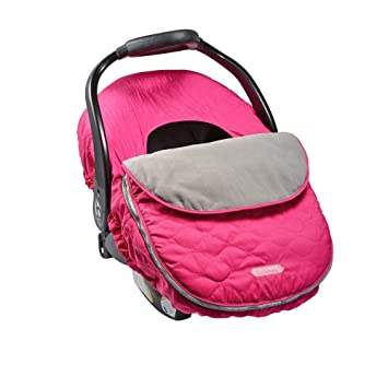 JJ Cole Car Seat Cover Sassy Bright Pink Wave