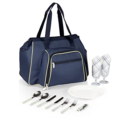 Picnic Time Toluca Insulated Cooler Tote, Navy: Sports & Outdoors